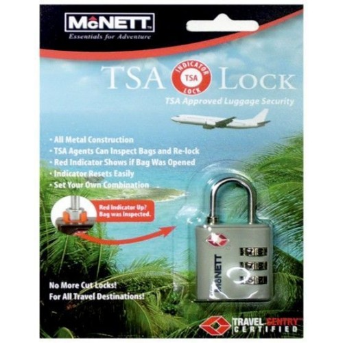 Kit TSA Travel Lock Blister Card Black