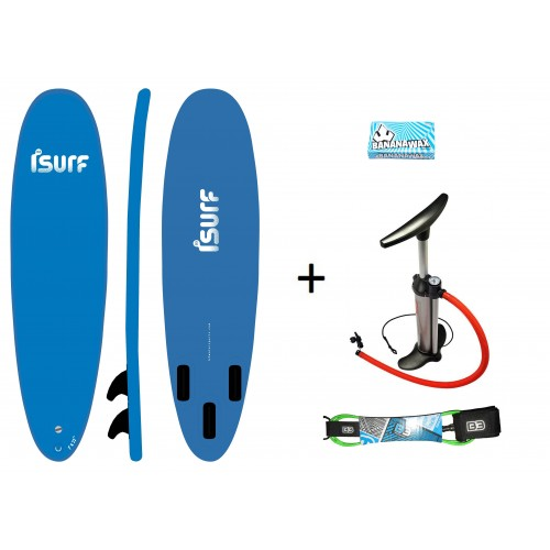 "Pack Pro ISURF 7´0""+Hinchador+Leash+Wax"