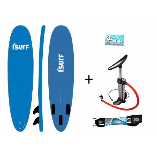 "Pack Pro ISURF 7´6""+Hinchador+Leash+Wax"