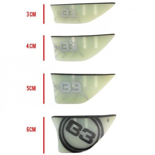 Aleta B3 G-10 Twin Tip 3 hole 5mm