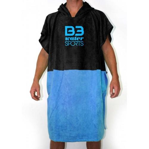Poncho B3 Negro/Azul