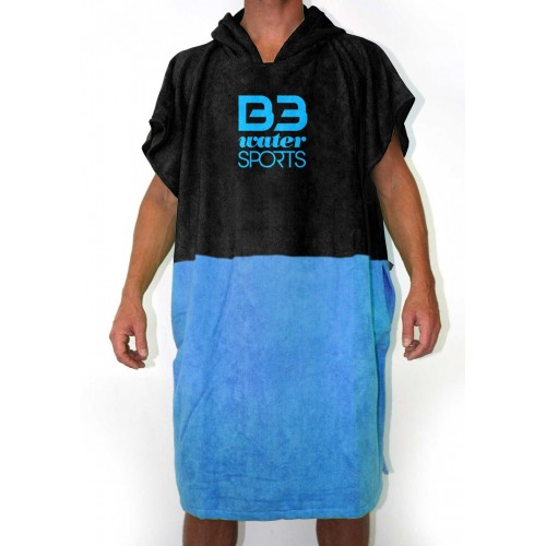Poncho B3 Junior Negro/Azul