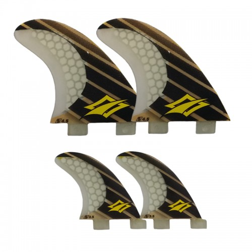 "NAISH 4.5""/3.5"" Quad Fin Set (4) - FCS"