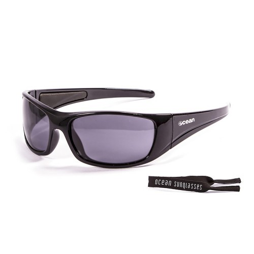 Ocean Glass Bermuda Shiny Black Smoke Lents