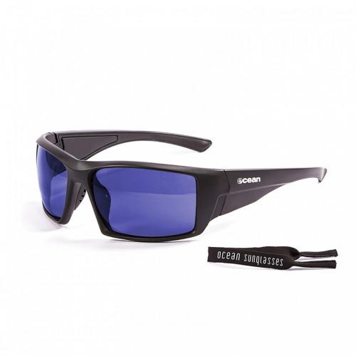 Ocean Glass Aruba Shiny Black With Revo Blue Lens