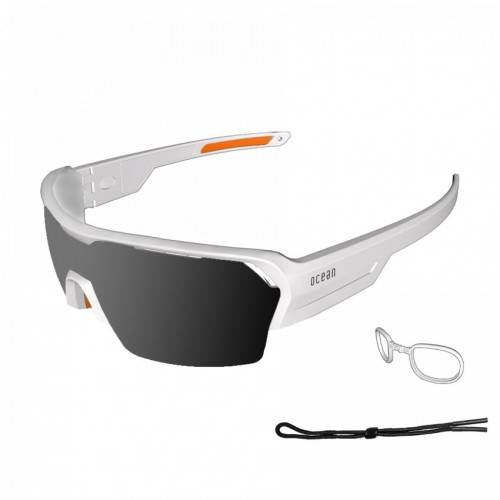 Ocean Glass Race Matte White With Smoded Lens