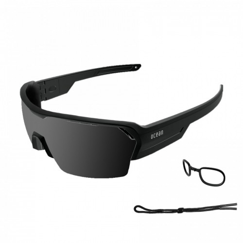 Ocean Glass Race Mattre Black With Smoked Lens