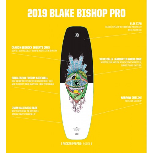 The Bishop 146 Slingshot 2019 Wakeboard