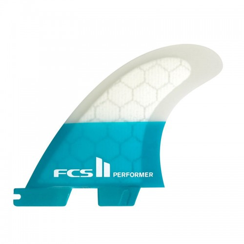 Set Aletas FCS II Performer PC Teal M Quad Fins