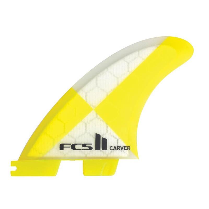 Set Aletas FCS II Carver PC Yellow M Tri Fins