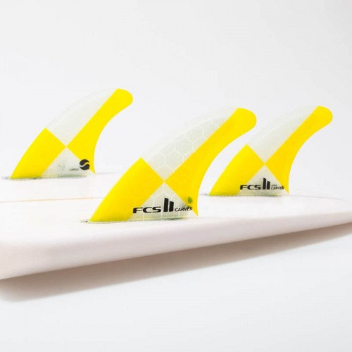 Set Aletas FCS II Carver PC Yellow L Tri Fins