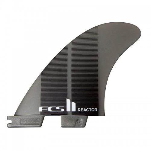 Set Aletas Tri FCS II Reactor Neo Glass M Charcoal