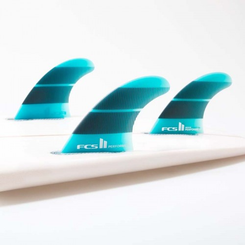 Set Aletas FCS II Performer NeoGlass L Teal Tri Fins