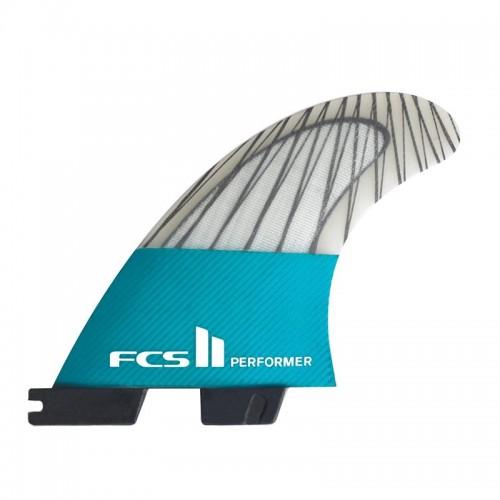 Set Aletas FCS II Performer PC Carbon L Black/Teal