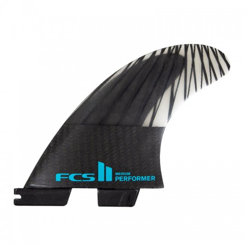 Set Aletas FCS II Performer PC Carbon M Black/Teal