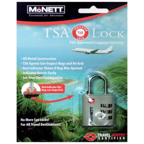 Kit TSA Travel Lock Blister Card Silver